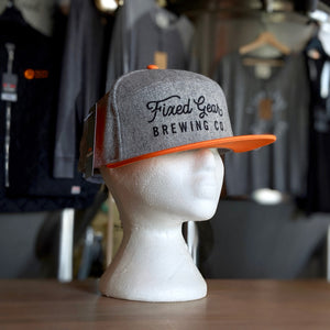 Fixed Gear Tradesman Hat Orange/Grey