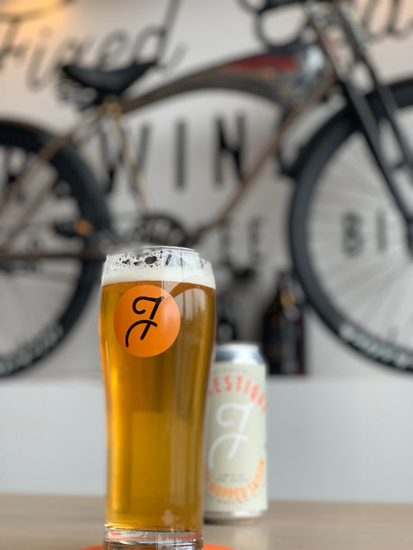 20 oz Fixed Gear Logo Glass