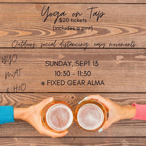 Yoga on Tap: Sunday, Sept 13