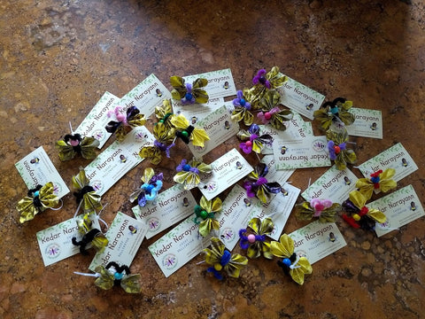 Doing some good! Kedar created some Origami Butterfly Brooches for the Moms of Preemie babies at the St Luke's NICU