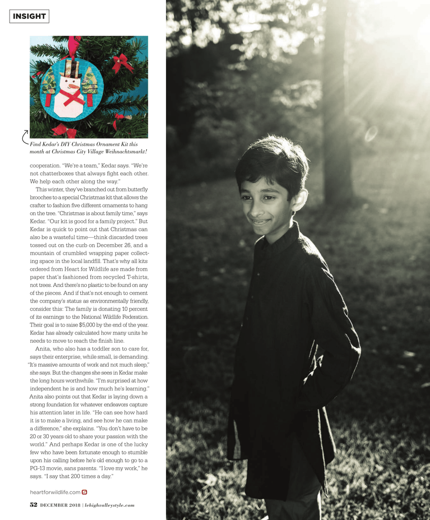 Lehigh Valley Style Magazine - Kedar - Youth Entrepreneur