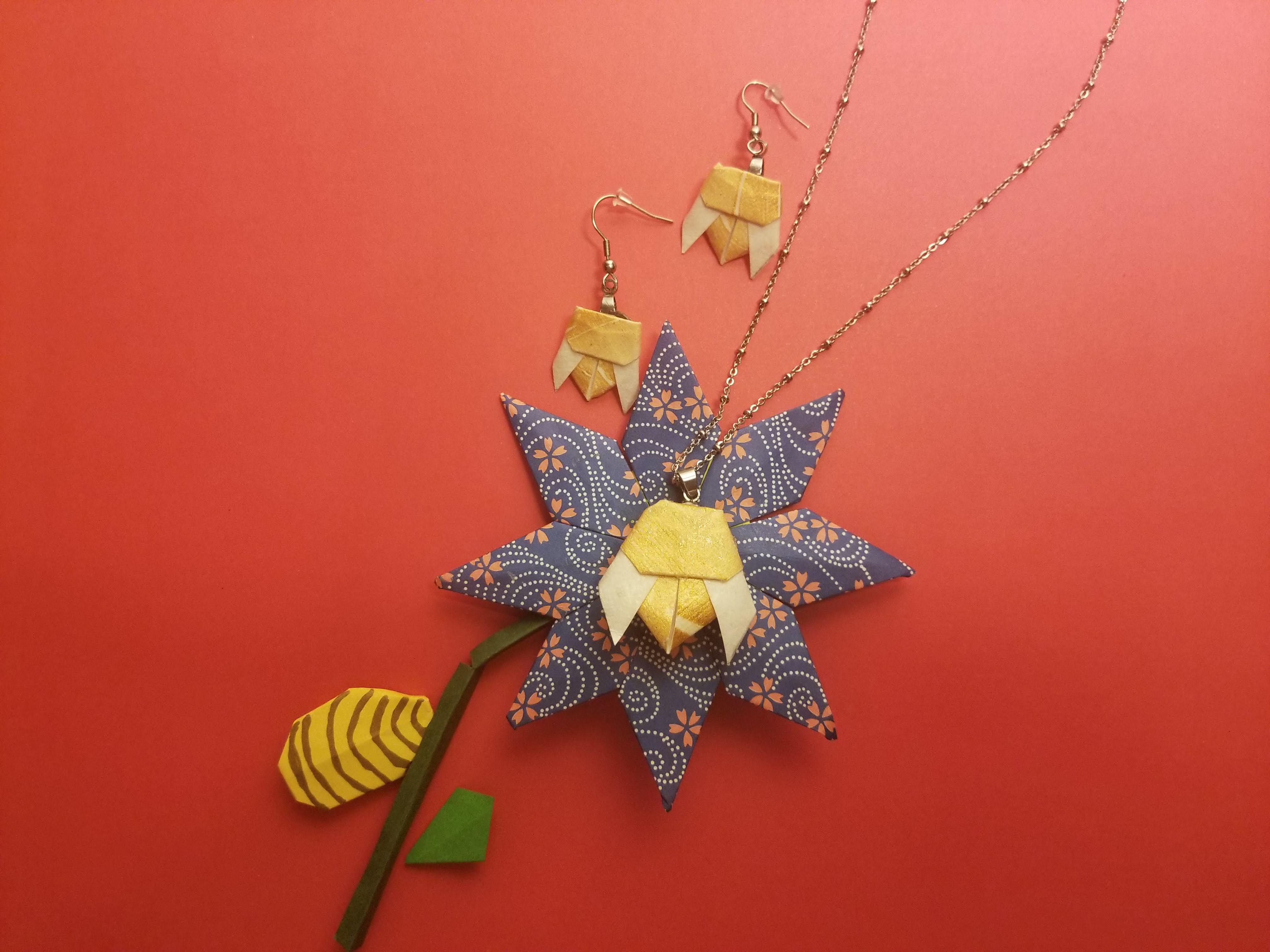 'The Bee' pendant with necklace and earrings making kit