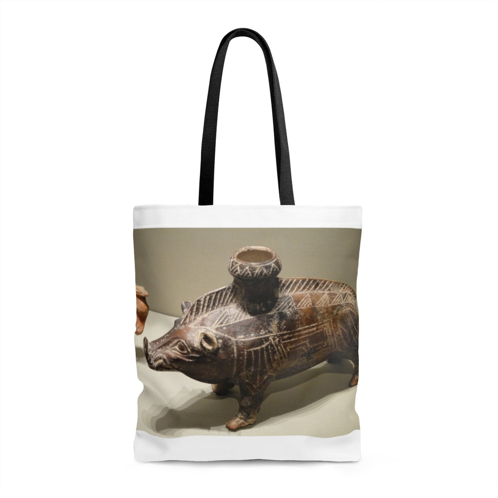 Etruscan Ceramic Boar Vessel Bag