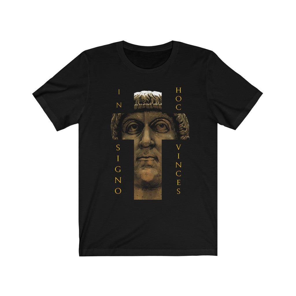 """In hoc signo vinces"" Constantine the Great Unisex Short Sleeve T-shirt"