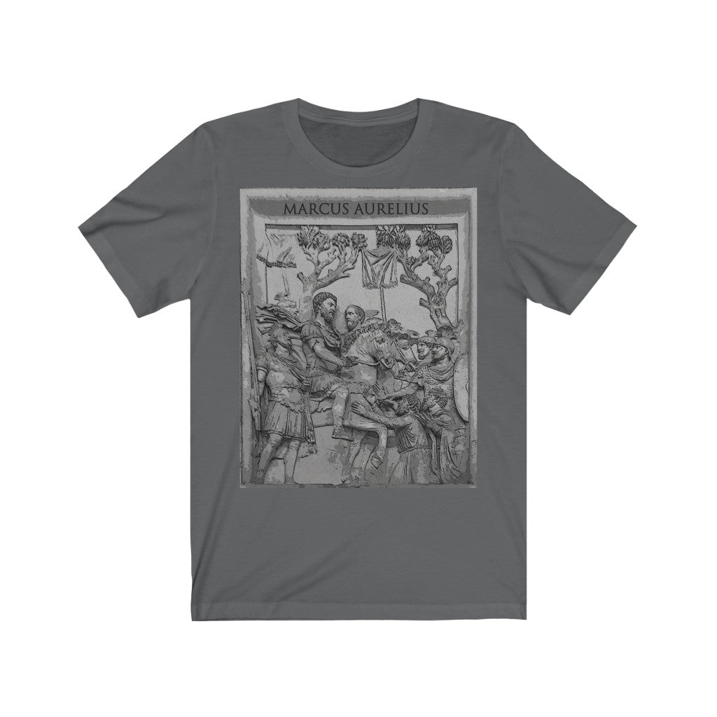 Marcus Aurelius v Germans Unisex Short Sleeve T-shirt
