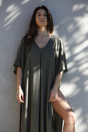 SOLD OUT - Kahlo Kaftan - Forest Green