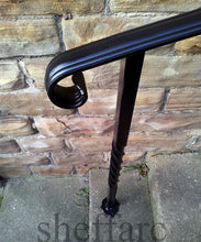 Set-Size wrought Iron handrail + 2 posts with footplates - www.sheffarc.com