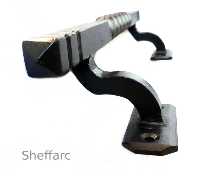 Easy reach offset ornamental mobility grab handle - rail - bar - style 5 - www.sheffarc.com