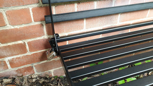 Wall Mounted seating,  Foldaway / Fold up Metal Garden Seat / Bench / Chair, space saving