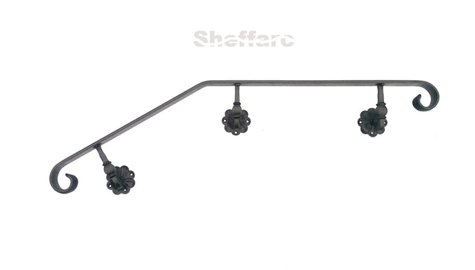 Wrought iron style handrail with bend and ornamental scroll - www.sheffarc.com