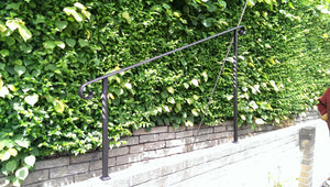 Bespoke wrought iron style handrail with post- balustrade - www.sheffarc.com
