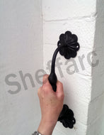 Ornamental wrought iron grab handle, mobility aid - rail - bar - style 2 - www.sheffarc.com