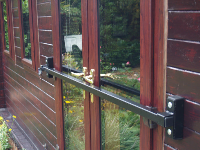 Shed Security - Slide-In Door Garage Security Bar for Office, Shed, Beach Hut - www.sheffarc.com