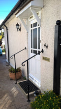 Adjustable wrought iron style handrail with newel post - www.sheffarc.com