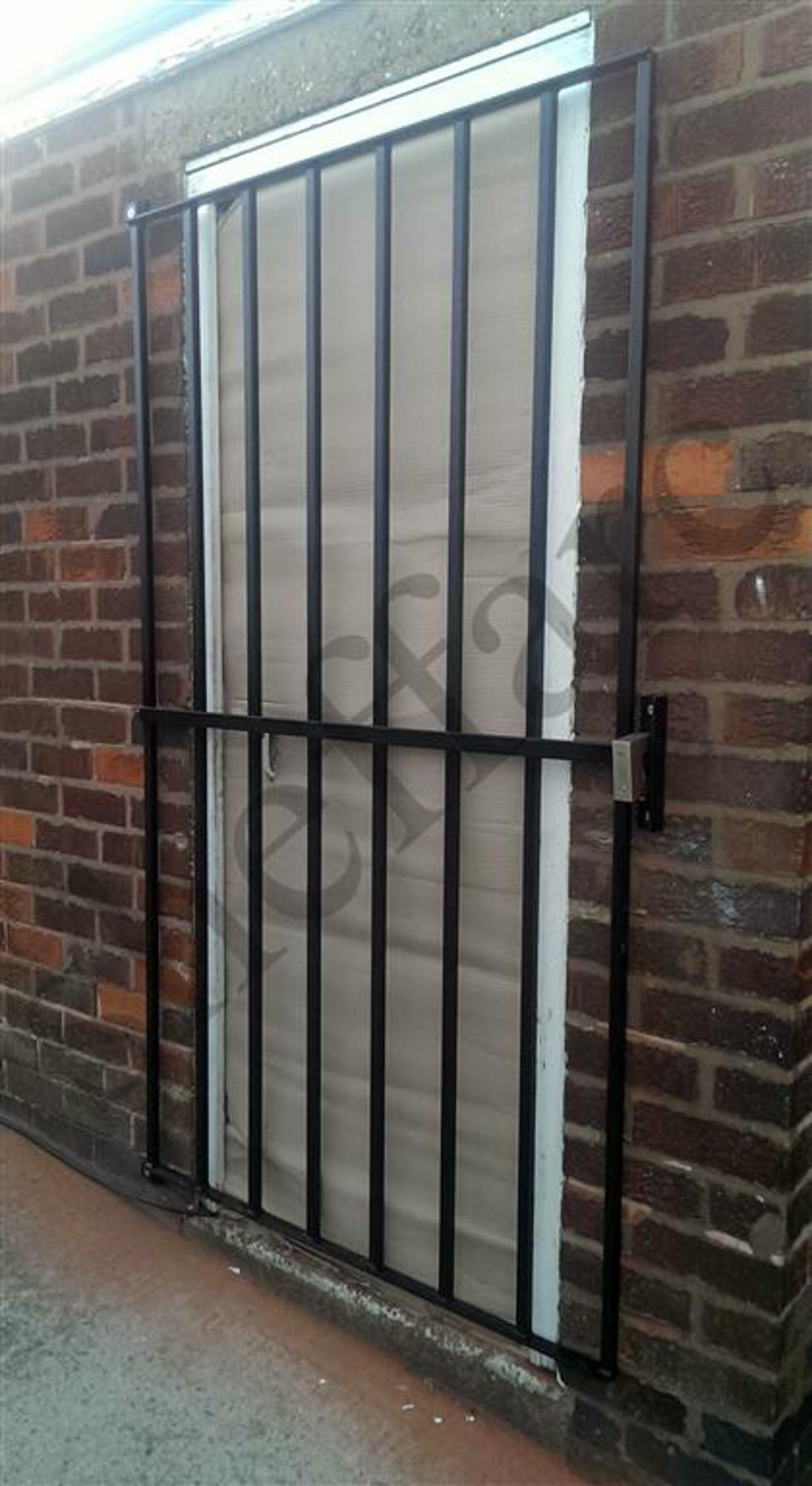 steel door security grille gate for home office or garage sheffield architectural metalworkers. Black Bedroom Furniture Sets. Home Design Ideas