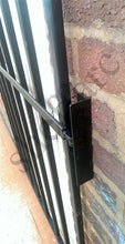 Steel door security grille / gate for home, office or garage - www.sheffarc.com