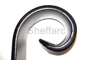 Wall and post fixed - Adjustable angle wrought iron metal handrail for outside garden steps - www.sheffarc.com