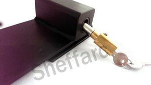 Door Security Hasp and Staple - Heavy Duty with Shielded Lock - www.sheffarc.com