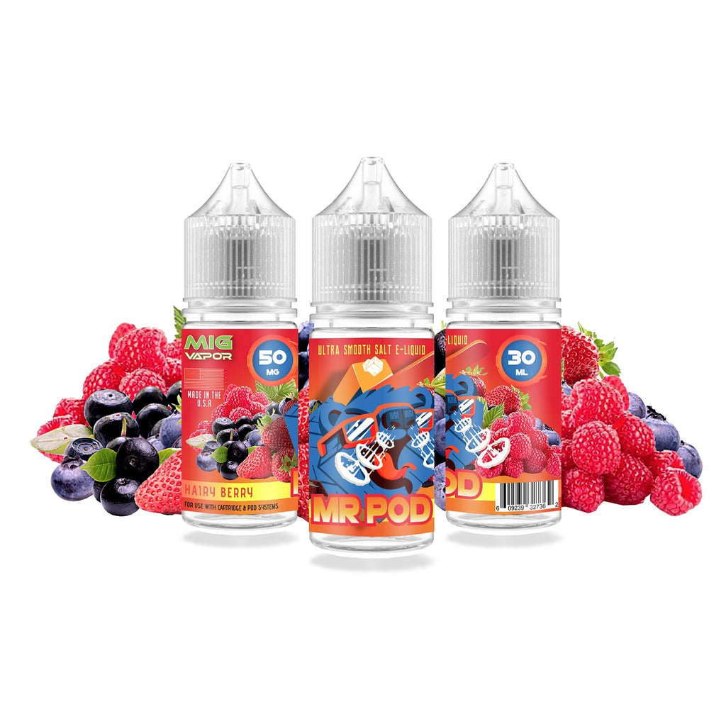 NZ Vape - Hairy Berry Mr Pod Nic Salt By Mig Vapor - Vape Factory NZ - Vape Store New Zealand