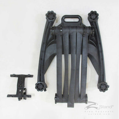 Image of the top view of the ZStand AllStar in its closed position with the head assembly tablet holder detached.