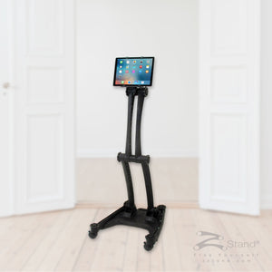 Image of a black ZStand Sportster, portable personal assistant tablet holder
