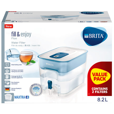 BRITA Flow Cask, 8.2L, plus 2 x MAXTRA+ Filters, 1037280