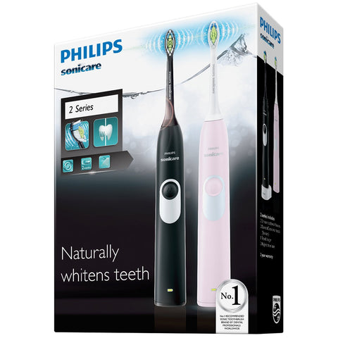 Image of Philips Sonicare 2 Series Whitening Electric Toothbrush x 2pk, HX6232/20