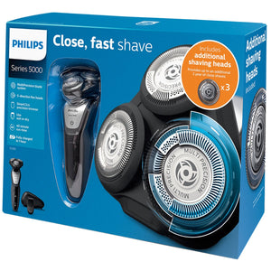 Philips Wet & Dry Series 5000 Men's Shaver with Additional Shaving Heads, PHILIPSSERIES 5000