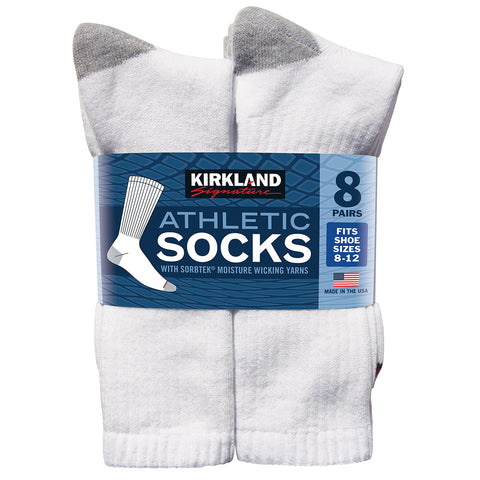 Kirkland Signature Men's Athletic Socks 8pk