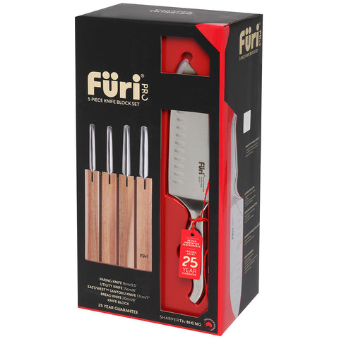 Image of Furi Pro Segmented Knife Block Set 5pc