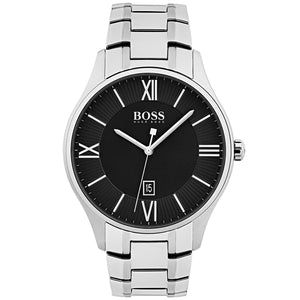 Hugo Boss Governor Men's Silver Stainless Steel Bracelet Band Watch 1513488