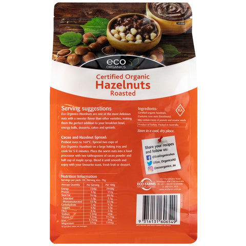 Image of ECO Organics Organic Roasted Hazelnuts 700g x 2