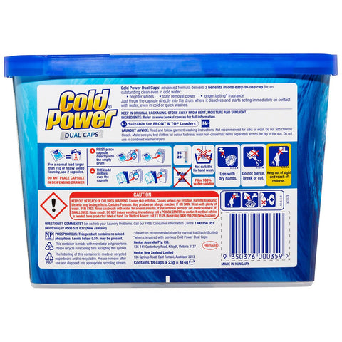 Cold Power 3-in-1 Laundry Pacs 8 x 18pk