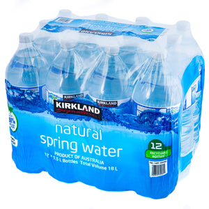Kirkland Signature Natural Spring Water 12 x 1.5L Bottles
