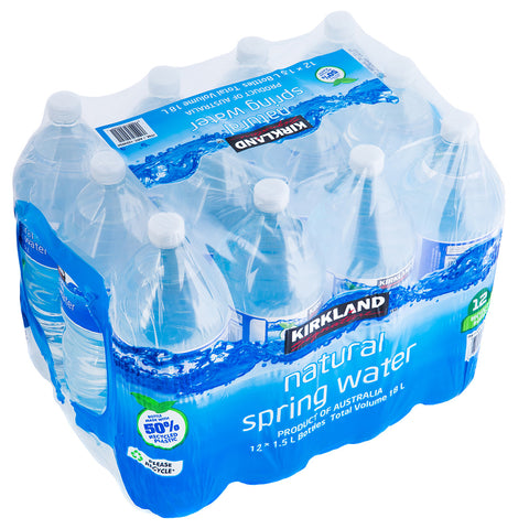 Image of Kirkland Signature Natural Spring Water 12 x 1.5L Bottles