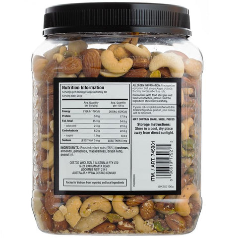 Image of Kirkland Signature Extra Fancy Unsalted Mixed Nuts 1.13kg x 2