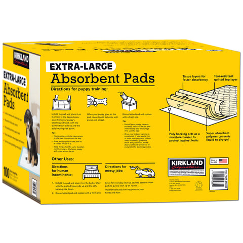 Image of Kirkland Signature Absorbent Pads 58.4 x 76.2cm (100ct)