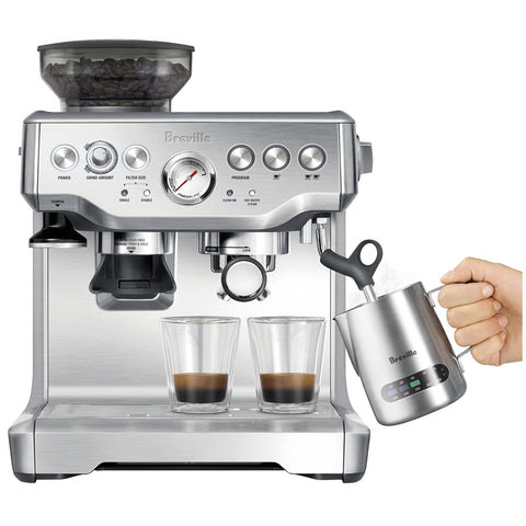 Breville Barista Express Coffee Machine, BES875BSS, BES875BKS