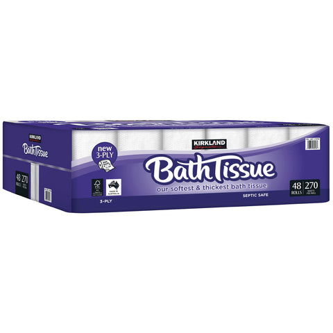 Image of Kirkland Signature Bath Tissue 3ply 48 x 270 sheets
