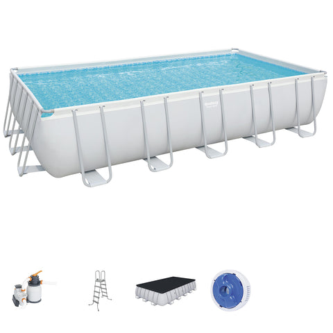 Bestway Rectangular Pool Set 6.71 x 3.66 x 1.32 m with Sand Filter Pump