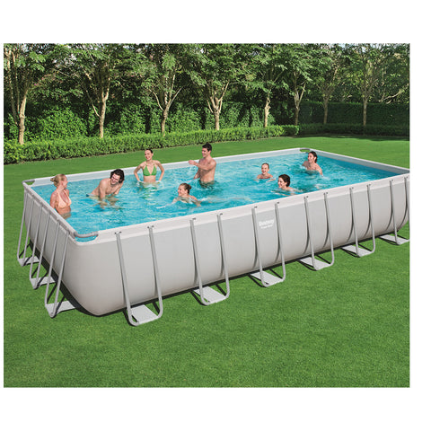 Image of Bestway Power Steel Rectangular Pool Set with Sand Filter, 7.32 x 3.66 x 1.32 m, 30045L