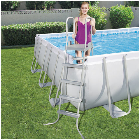 Bestway Power Steel Rectangular Pool Set with Sand Filter 7.32 x 3.66 x 1.32 m