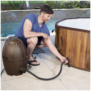 Bestway Lay-Z-Spa Helsinki AirJet Inflatable Spa, Heating System, 1.8m, Brown