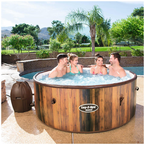 Image of Bestway Lay-Z-Spa Helsinki AirJet Inflatable Spa, Heating System, 1.8m, Brown