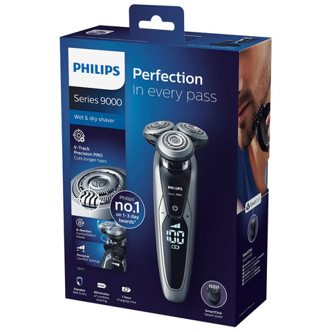 Philips Series 9000 Wet & Dry Electric Shaver, V-Track PRO & SmartClick, S9711/41