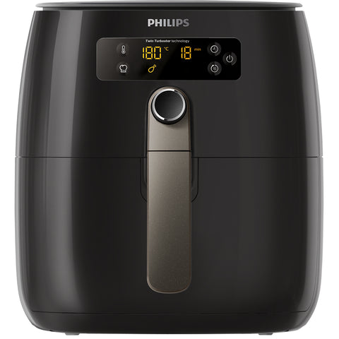 Image of Philips Twin Turbostar Digital Airfryer With Lid, Black, HD9742/93