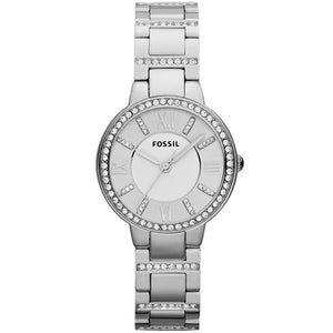 Fossil Virginia Silver Tone Analogue Women's Watch ES3282
