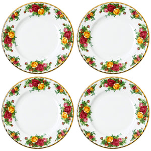 Old Country Roses 4 x 20cm Plate Set