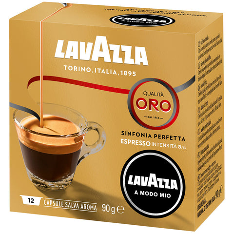Image of Lavazza A Modo Mio Qualita Oro Coffee Capsules 6x16pk + $10 Lavazza Jolie Coffee Capsule Machine