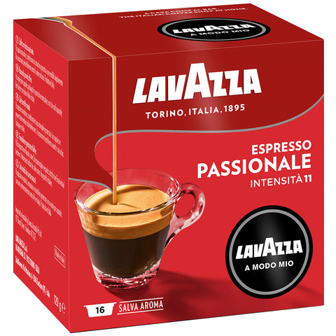 Image of Lavazza A Modo Mio Passionale Coffee Capsules 6x16pk + $10 Lavazza Jolie Coffee Capsule Machine